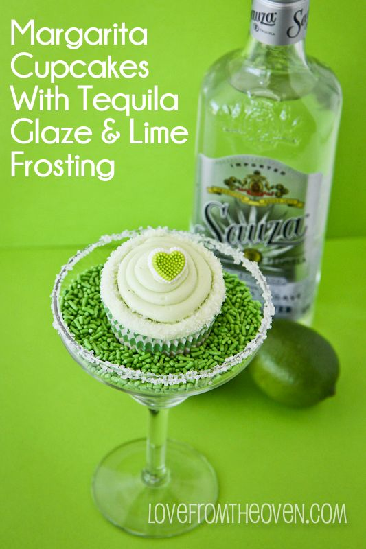 Margarita Cupcakes With Tequila Glaze & Lime Frosting